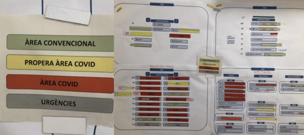 Koronavírus színkódolt tábla