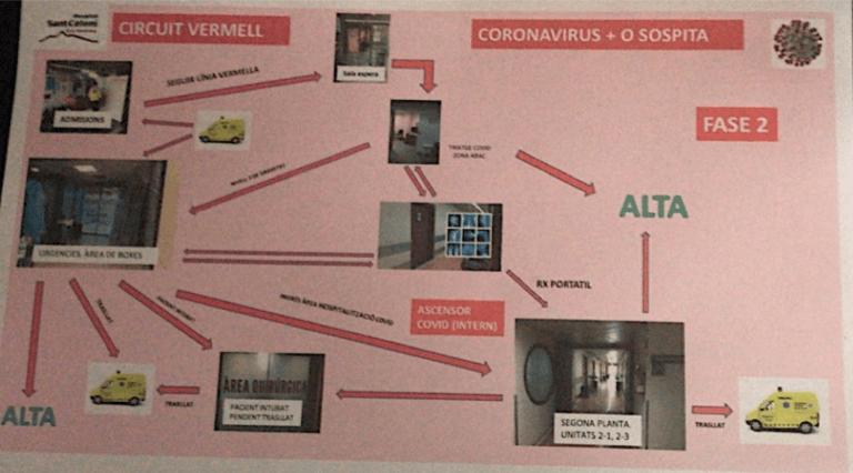 Koronavírusos betegút folyamatábra